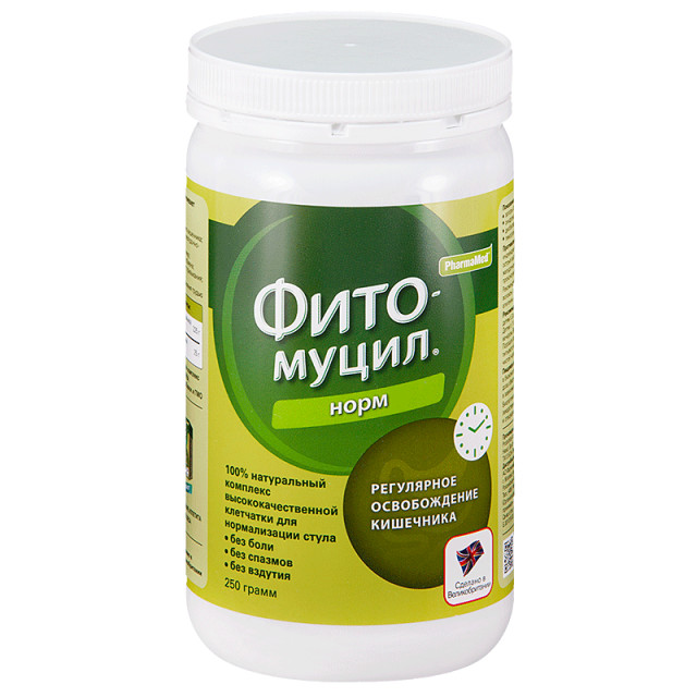 Фитомуцил Норм порошок 250г купить в Москве по цене от 851 рублей