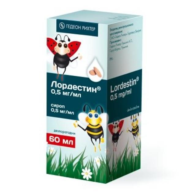 Лордестин сироп 0,5мг/мл 60мл купить в Москве по цене от 0 рублей