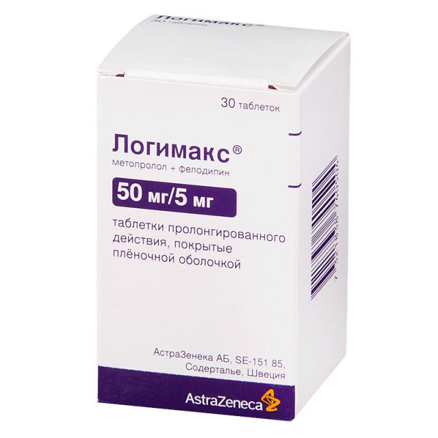 Логимакс таблетки пролонгированные 50мг+5мг №30 купить в Москве по цене от 848 рублей