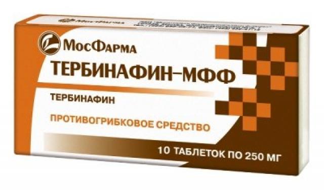 Тербинафин МФФ таблетки 250мг №10 купить в Москве по цене от 108 рублей