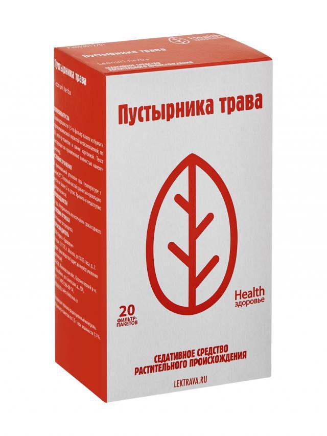 Пустырник трава Здоровье 1,5г №20 купить в Москве по цене от 54 рублей
