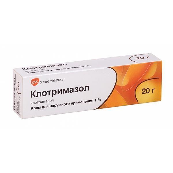 Клотримазол Глаксо крем 1% 20г купить в Москве по цене от 202 рублей