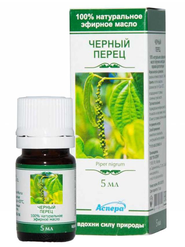 Аспера масло эф. перец черный 5мл купить в Москве по цене от 225 рублей