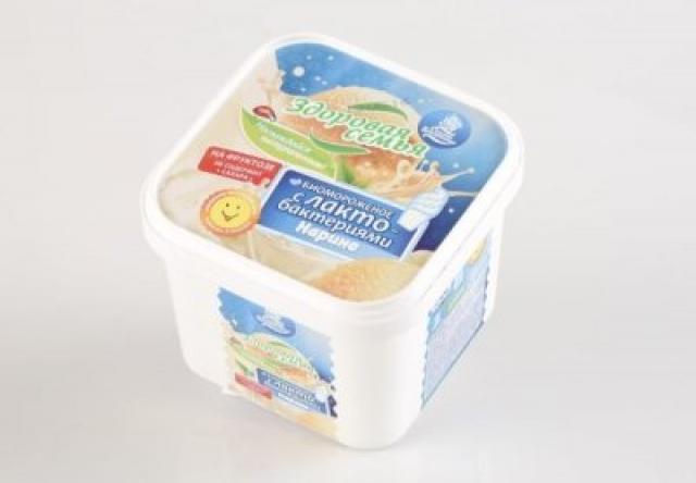 Биомороженое Здоровая семья ванночка Нарине на фруктозе ваниль 450г купить в Москве по цене от 0 рублей