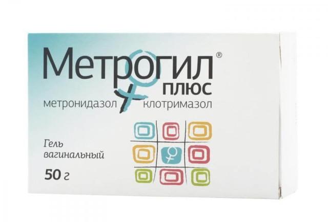 Метрогил Плюс гель вагинальный 50г+ аппликатор №1 купить в Москве по цене от 258 рублей