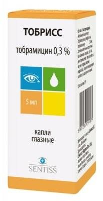 Тобрисс капли глазные 0,3% 5мл купить в Москве по цене от 146.5 рублей