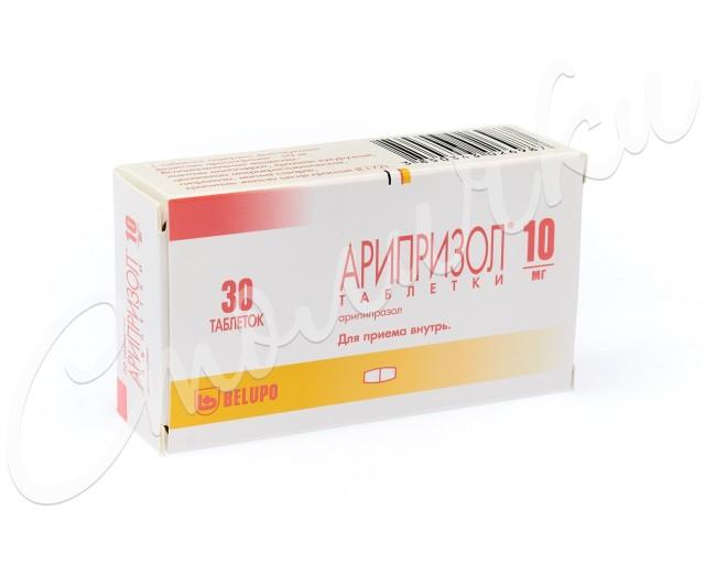 Арипризол таблетки 10мг №30 купить в Москве по цене от 3120 рублей