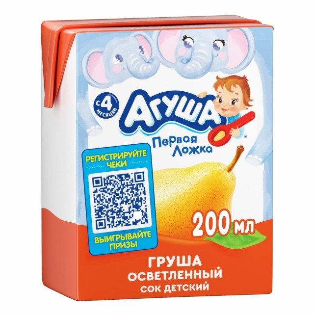 Агуша сок груша осветл. 200мл купить в Москве по цене от 0 рублей