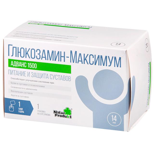 Глюкозамин-Максимум Адванс 1500 пор.10г №14 купить в Москве по цене от 1120 рублей