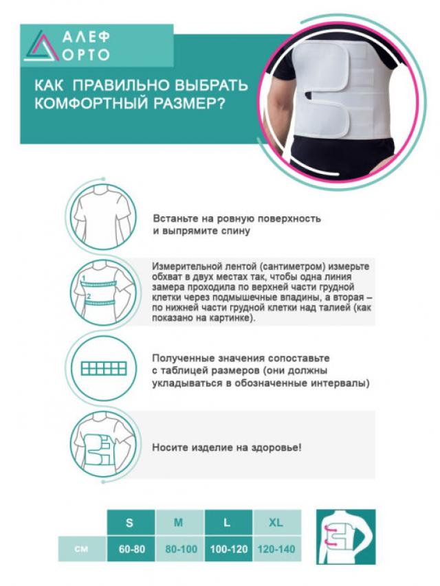 Алеф бандаж послеоперационный на грудную клетку мужской S купить в Москве по цене от 0 рублей