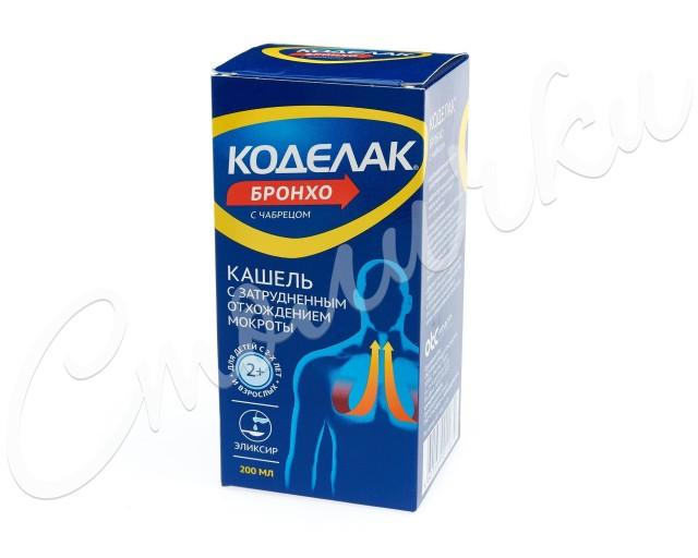 Коделак Бронхо эликсир с чабрецом 200мл купить в Москве по цене от 276 рублей
