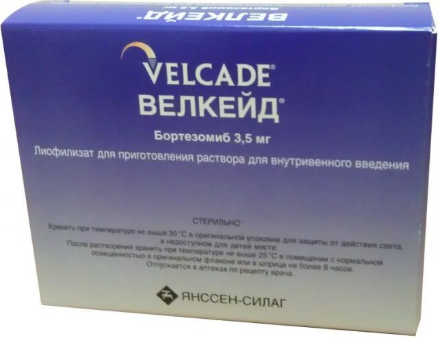 Велкейд лиофилизат для инъекций 3,5мг №1 купить в Москве по цене от 0 рублей
