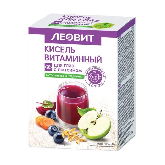 Леовит Кисель витамины для глаз с лютеином 18г №5 купить в Москве по цене от 149 рублей
