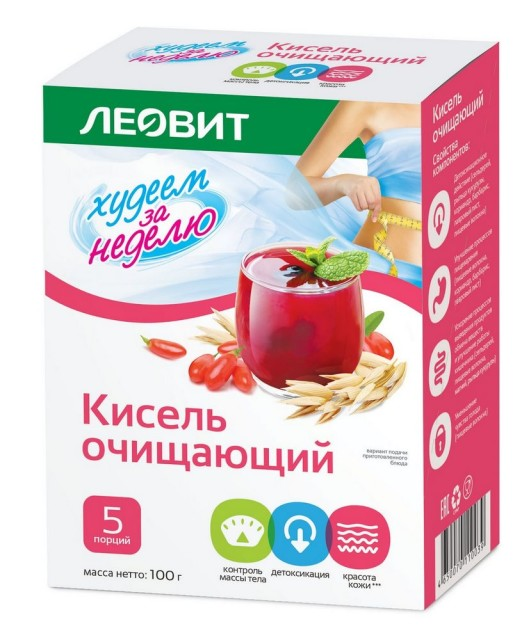 Леовит Кисель очищающий 20г №5 купить в Москве по цене от 139 рублей