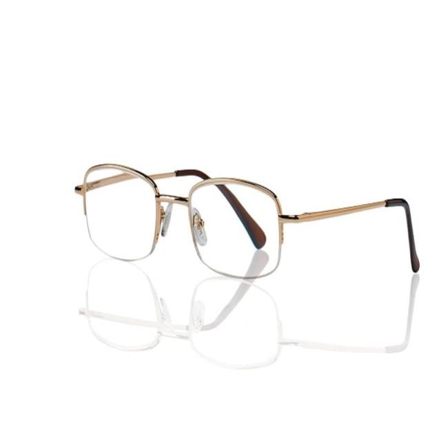 Очки золотые металл полукруглые +3,0 90295/11 купить в Москве по цене от 600 рублей