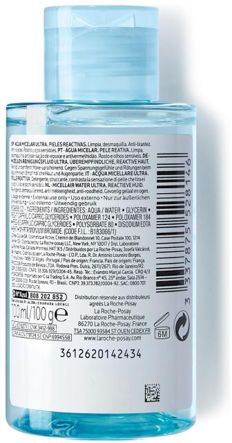 Ля рош позе вода мицеллярная д/реакт.кожи 100мл купить в Москве по цене от 433 рублей