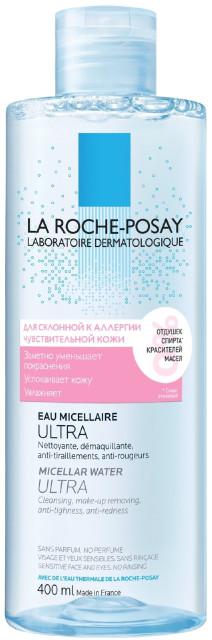 Ля рош позе вода мицеллярная д/реакт.кожи 400мл купить в Москве по цене от 1440 рублей