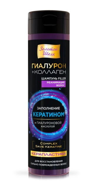 Золотой шелк шампунь Керапластика 250мл купить в Москве по цене от 163 рублей