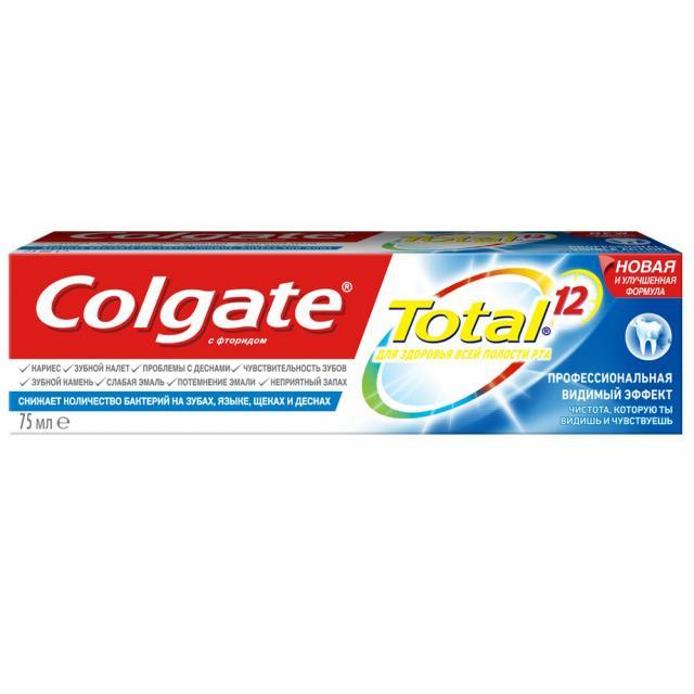 Колгейт зубная паста Тотал Про Видимый эффект 75мл купить в Москве по цене от 157 рублей