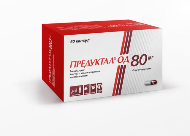 Предуктал ОД капсулы пролонгированные 80мг №60 купить в Москве по цене от 1420 рублей