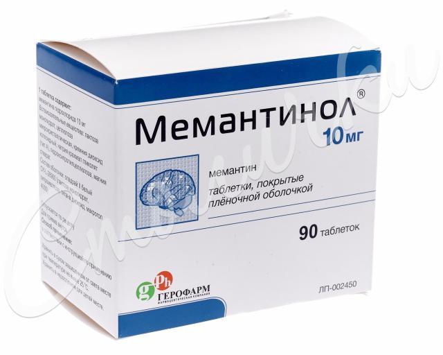 Мемантинол таблетки п.о 10мг №90 купить в Москве по цене от 1588 рублей