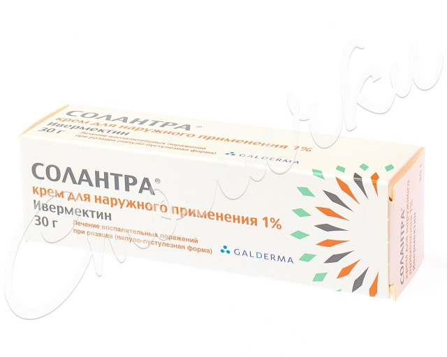 Солантра крем 1% 30г купить в Москве по цене от 1420 рублей