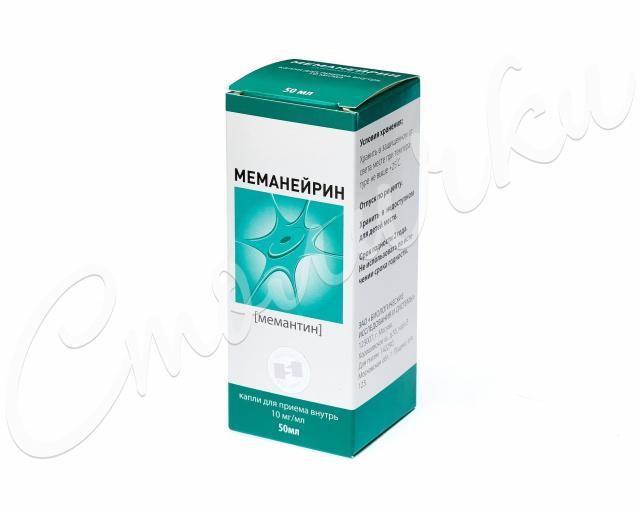 Меманейрин капли внутрь 10мг/мл 50мл купить в Москве по цене от 2250 рублей
