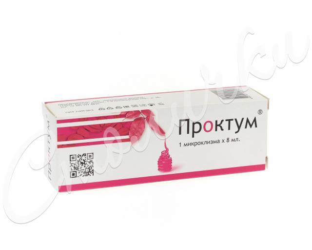 Проктум гель микроклизма 8мл №1 купить в Москве по цене от 0 рублей