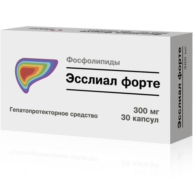 Эсслиал форте капсулы 300мг №30 купить в Москве по цене от 404 рублей