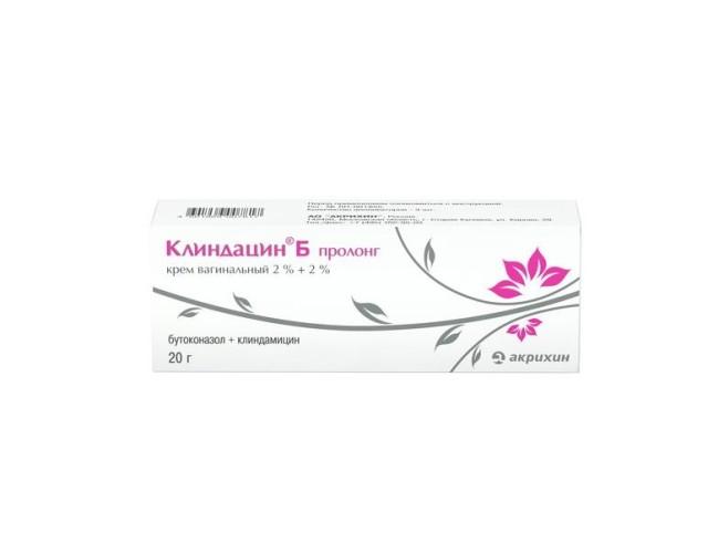 Клиндацин Б пролонг крем вагинальный 20г купить в Москве по цене от 570 рублей