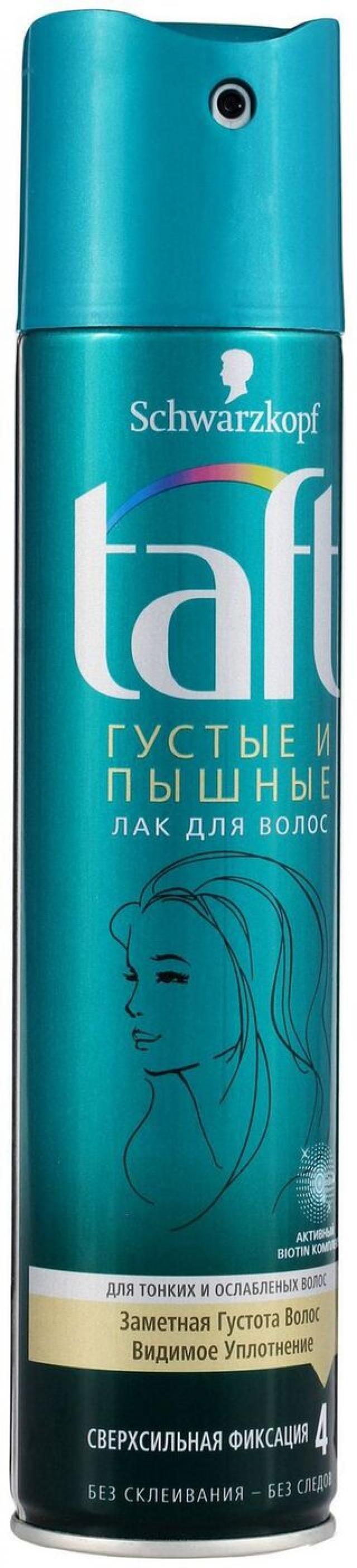 Тафт лак для волос Густые и пышные 225мл купить в Москве по цене от 0 рублей