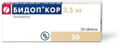 Бидоп кор таблетки п.о 2,5мг №56 купить в Москве по цене от 192.5 рублей