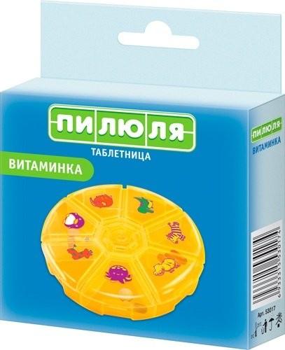 Таблетница пилюля на 7 дней Витаминка (53017) купить в Москве по цене от 161 рублей