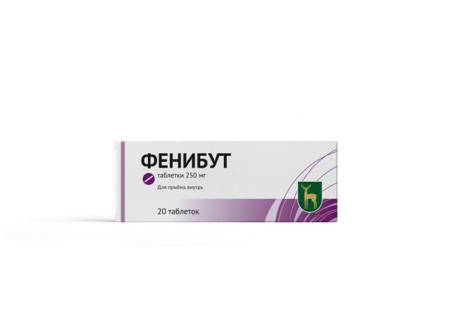 Фенибут МЭЗ таблетки 250мг №20 купить в Москве по цене от 295 рублей