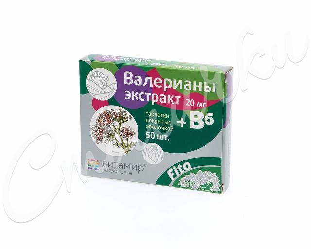 Валериана экстракт Квадрат таблетки п.о. 20мг+ В6 №50 купить в Москве по цене от 59 рублей