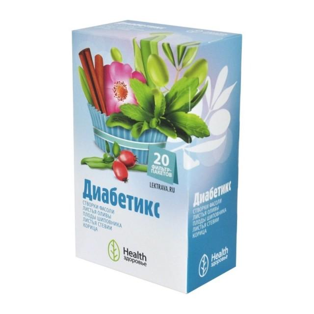 Диабетикс чай ф/п 2г №20 купить в Москве по цене от 149 рублей