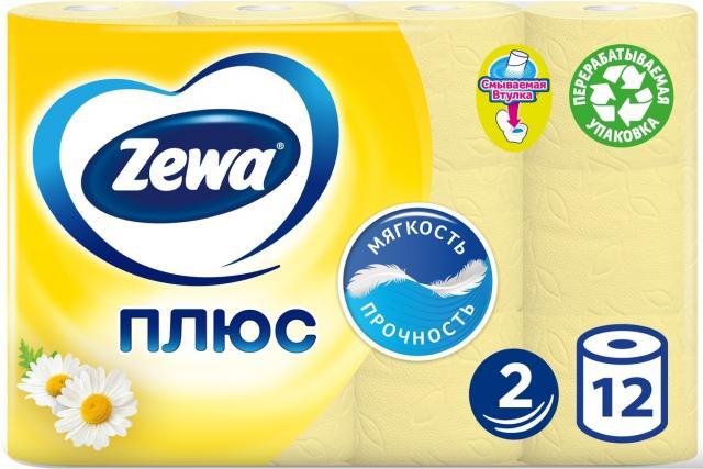 Зева Плюс бумага туалетная ромашка №12 купить в Москве по цене от 0 рублей