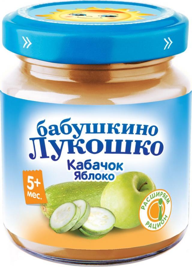 Бабушкино лукошко пюре кабачок/яблоко 100г купить в Москве по цене от 0 рублей