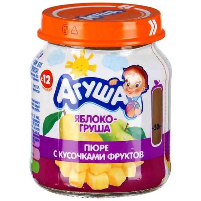 Агуша пюре яблоко с кусоч. 105г купить в Москве по цене от 0 рублей