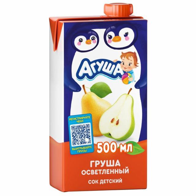 Агуша сок груша осветл. 500мл купить в Москве по цене от 0 рублей