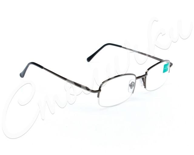 Очки темно-серые металл полукруглые +1,5 90295/2 купить в Москве по цене от 605 рублей