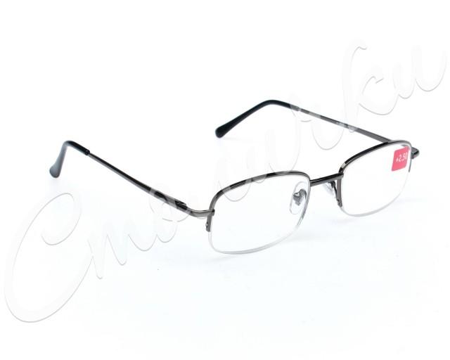 Очки темно-серые металл полукруглые +2,5 90295/4 купить в Москве по цене от 602 рублей