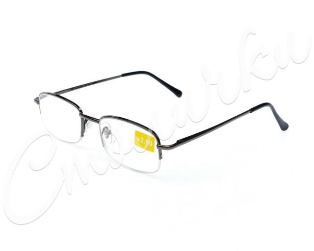 Очки темно-серые металл полукруглые +2,0 90295/3 купить в Москве по цене от 602 рублей