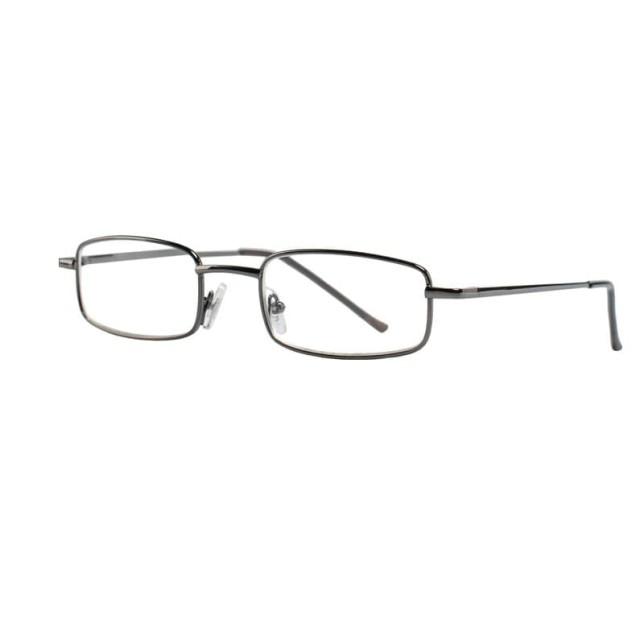 Очки темно-серые металл полукруглые +1,0 90295/1 купить в Москве по цене от 600 рублей