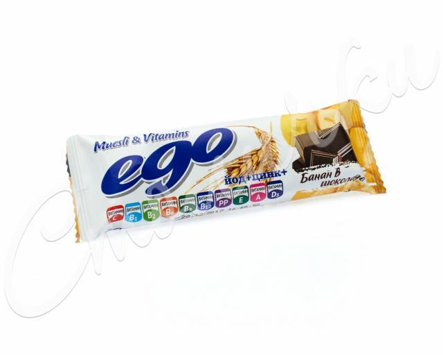 Эго мюсли Банан йод/вит. в мол. шоколаде 25г купить в Москве по цене от 43 рублей