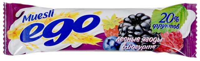 Эго мюсли Лесные ягоды кальций/вит. в йогурте 25г купить в Москве по цене от 36 рублей