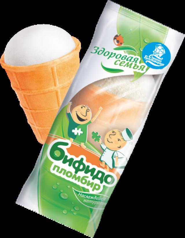 Биомороженое Здоровая семья стакан вафельный пломбир ванильный 70г купить в Москве по цене от 0 рублей