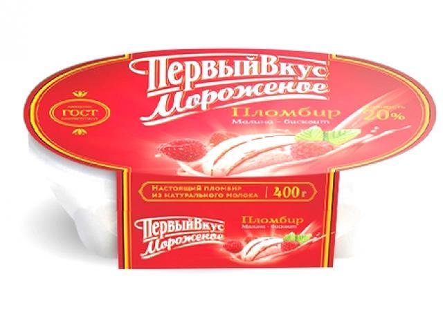 Биомороженое Первый вкус ванночка малин.джем/бисквит 400г купить в Москве по цене от 0 рублей