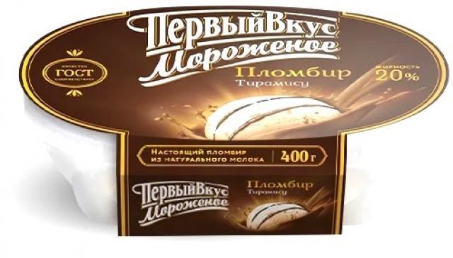 Биомороженое Первый вкус ванночка тирамису 400г купить в Москве по цене от 0 рублей