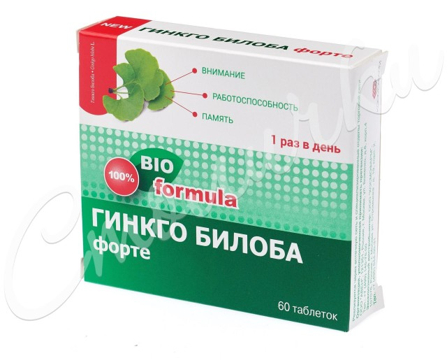 Гинкго Билоба Форте таблетки 460мг №60 купить в Москве по цене от 433 рублей